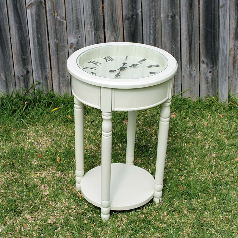 Clock Side Table Behind The Scenes Event Hire