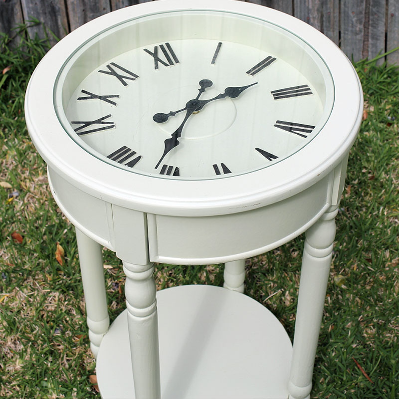 Superbe Clock Side Table