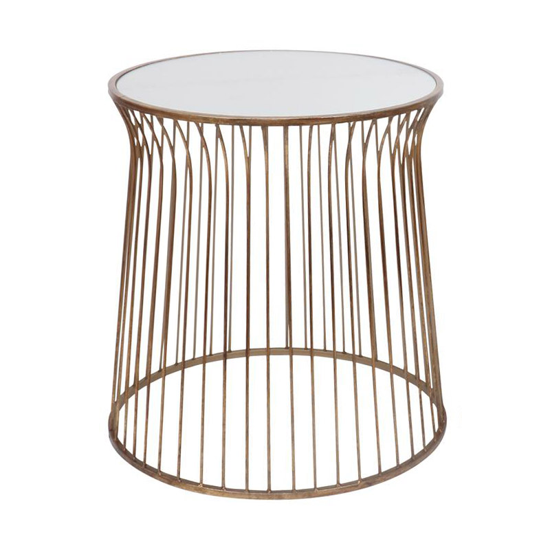 Gold Mirrored Side Table – Large