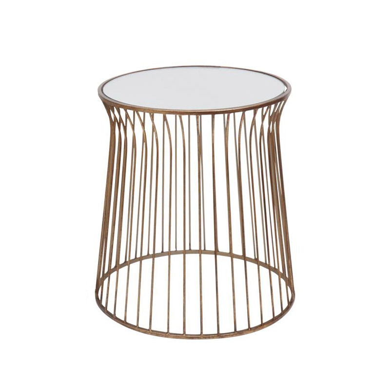 Gold Mirrored Side Table – Medium