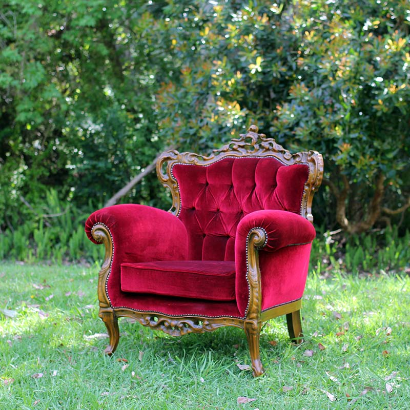 Lady in Red Armchair