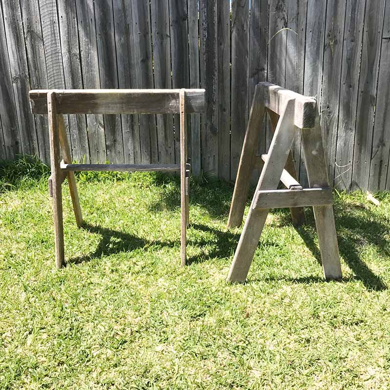Wooden Trestle Legs - Pair