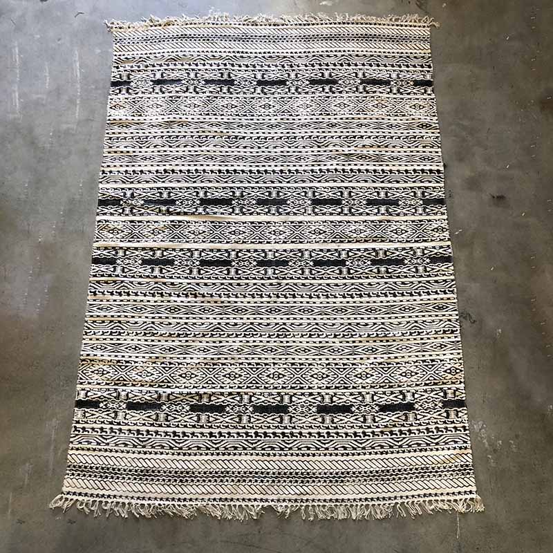 Tribal Scandi Rug - Cream & Black